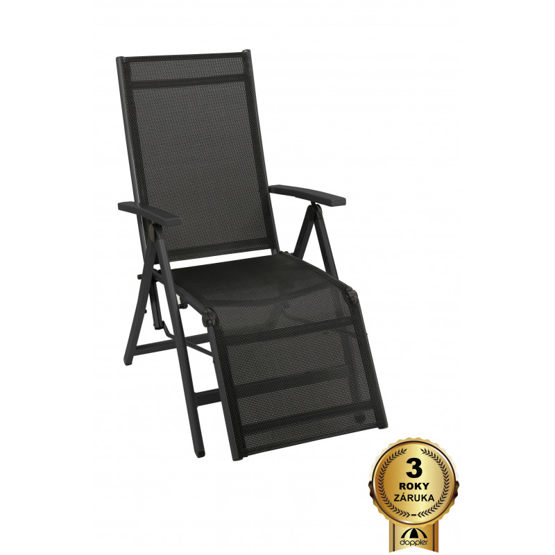 ACTIVE - relaxační křeslo polohovací černostříbrné