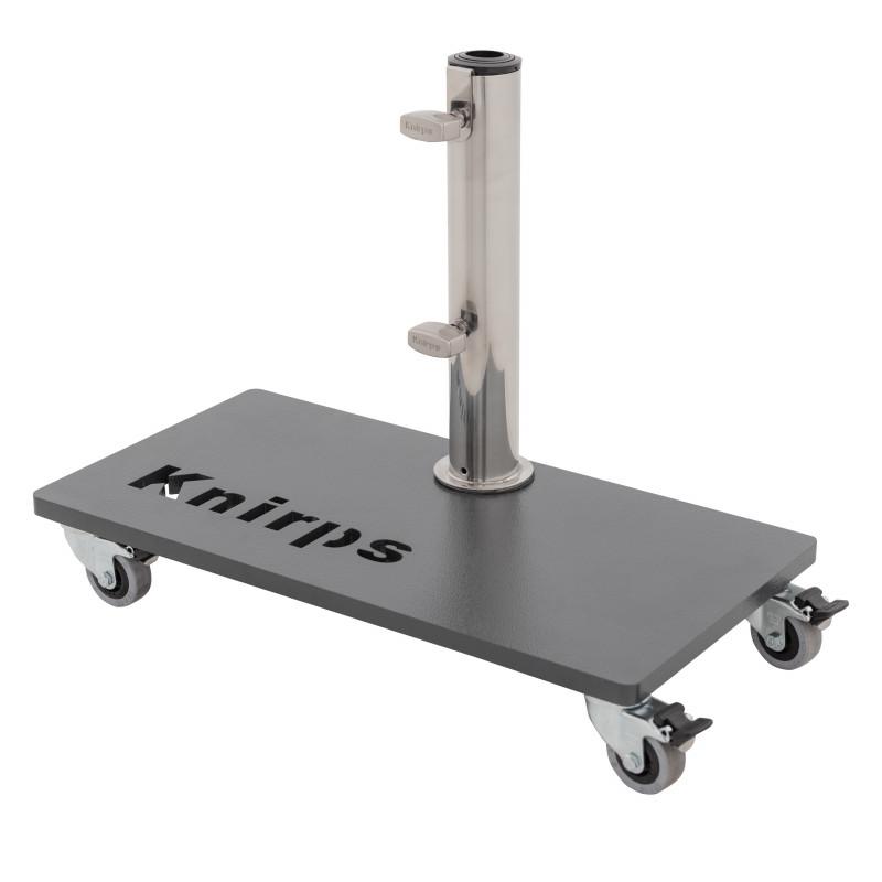 KNIRPS 25 kg pojízdný ocelový stojan pro slunečník s kolečky
