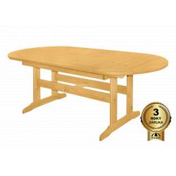 DOVER - dřevěný rozkládací stůl ze severské borovice 160/210x90x74,5 cm