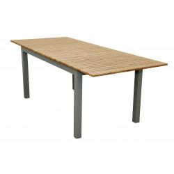 EXPERT WOOD - rozkládací hliníkový stůl 150/210x90x75 cm