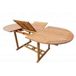 ATLAN - dřevěný rozkládací stůl 150/200x100x74 cm