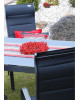 SALERNO MIAMI šedá - hliníková sedací souprava 6+1/stůl 150x90