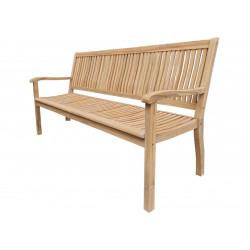 TECTONA - dřevěná zahradní teaková lavice 3 sedadlová