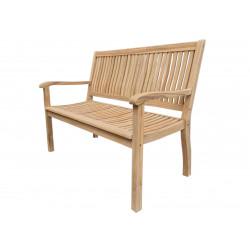 TECTONA - dřevěná zahradní teaková lavice 2 sedadlová
