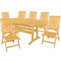 DOVER - dřevěná sedací souprava 6+1