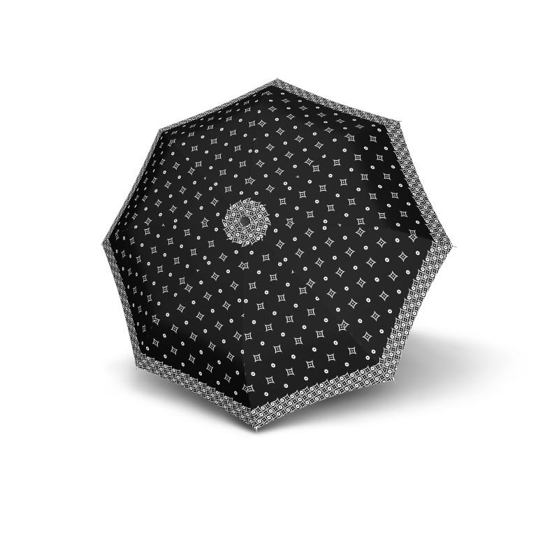 Mini Fiber Black&White - dámský skládací deštník