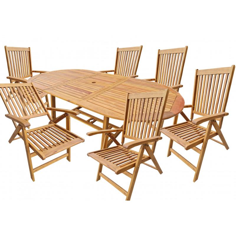ATLAN - dřevěná sedací souprava 4+1