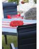 SALERNO MIAMI šedá - hliníková sedací souprava 6+1/stůl 210x100