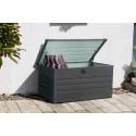 Zahradní kovový box na polstry 600l