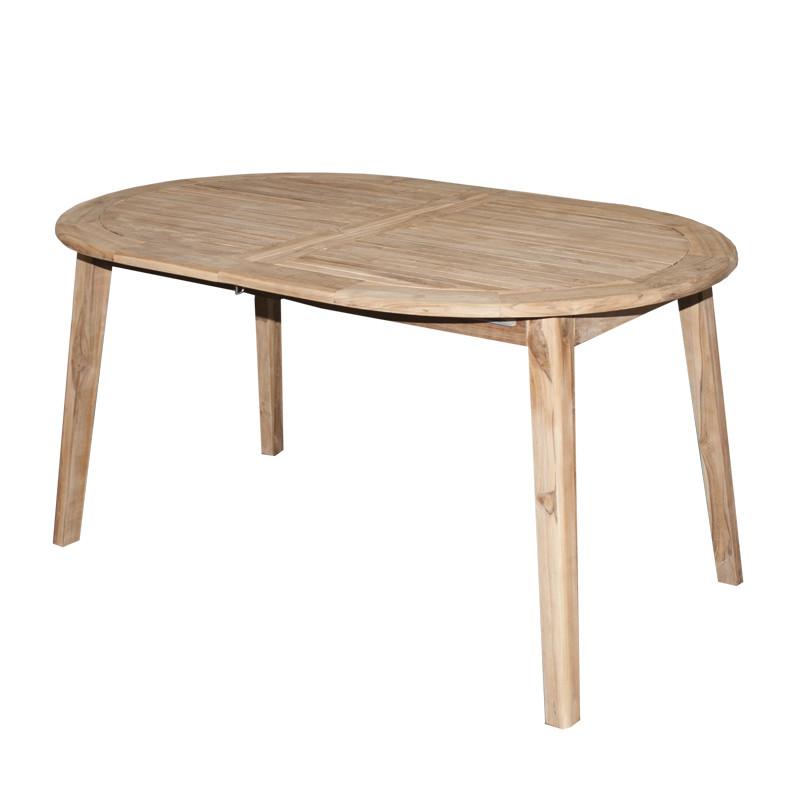 TECTONA - dřevěný rozkládací stůl 150/200x95 cm