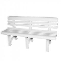 OLYMPIA - PVC zahradní lavice 150 cm bílá