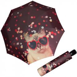 Modern Art LOVELY CAT - dámský plně automatický deštník