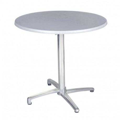 TOPAL - hliníkový stůl sklápěcí kulatý Ø 80cm