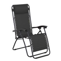 RELAX černé - relaxační křeslo polohovací